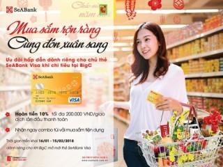 Hoàn tiền cho chủ thẻ SeABank khi mua sắm tại BigC