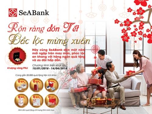 SeABank rộn ràng đón Tết với gần 20 nghìn quà tặng