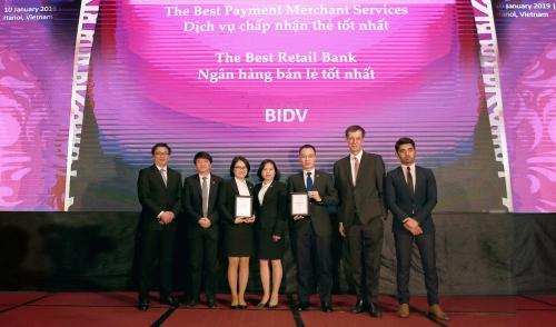 BIDV nhận giải thưởng Ngân hàng bán lẻ tốt nhất Việt Nam 5 năm liên tiếp