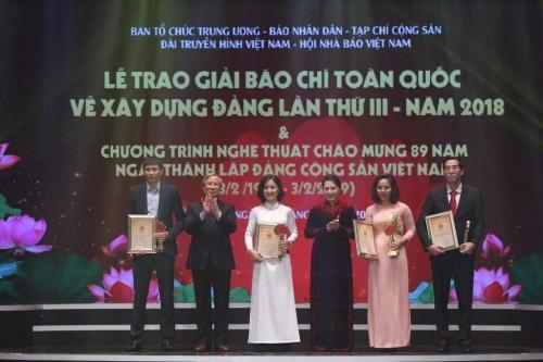 Lễ trao Giải báo chí toàn quốc về xây dựng Đảng lần thứ III