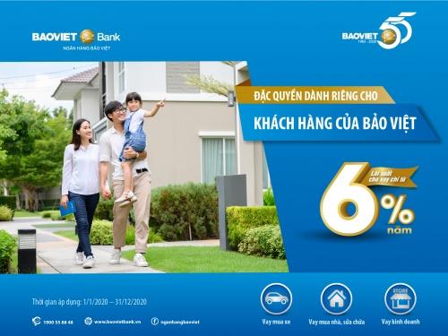 BAOVIET Bank cho vay ưu đãi lãi suất từ 6%/năm với khách hàng của Bảo Việt
