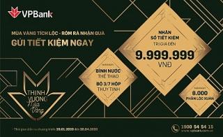 VPBank tặng hàng nghìn quà tặng cho khách hàng gửi tiết kiệm dịp đầu năm