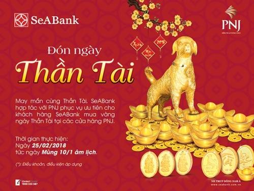 Tiện ích dành cho khách hàng SeABank khi mua vàng ngày Thần Tài