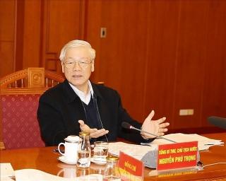 Tổng Bí thư chủ trì họp Tiểu ban Văn kiện Đại hội XIII của Đảng