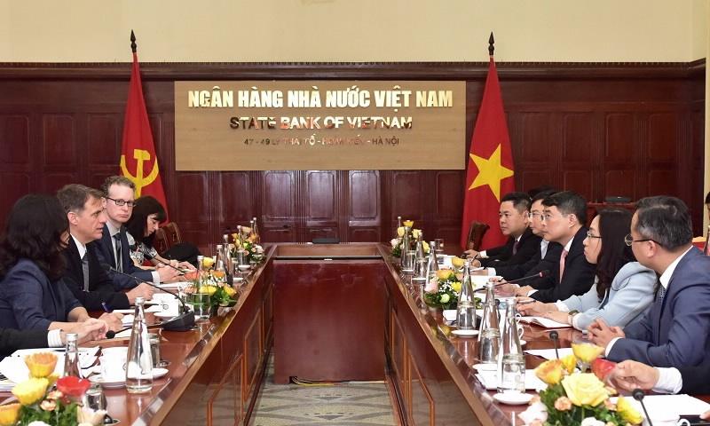 Thống đốc Ngân hàng Nhà nước Việt Nam làm việc với Bộ Tài chính Hoa Kỳ