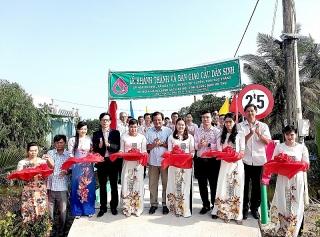 NHCSXH Quảng Nam xây cầu giúp người dân Sóc Trăng