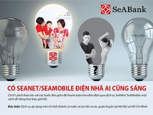 SeABank mở rộng dịch vụ thanh toán tiền điện online