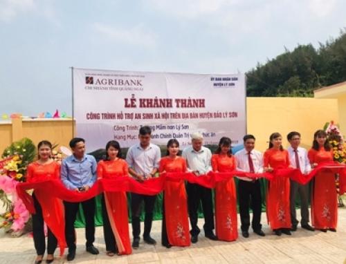 Khánh thành Trường mầm non Lý Sơn do Agribank tài trợ