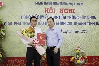 Công bố quyết định giao phụ trách điều hành NHNN Chi nhánh tỉnh Bạc Liêu