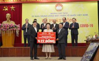 SeABank và Tập đoàn BRG ủng hộ 5 tỷ đồng cho công tác phòng chống dịch Covid-19