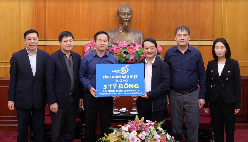 Tập đoàn Bảo Việt ủng hộ 3 tỷ đồng cho Quỹ Phòng, chống dịch Covid-19