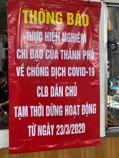 Hà Nội: Đóng cửa các hoạt động tập trung đông người