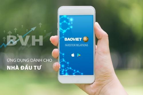 Bảo Việt ra mắt ứng dụng quan hệ nhà đầu tư trên Mobile App