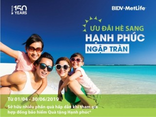 BIDV MetLife triển khai 'Ưu đãi hè sang – Hạnh phúc ngập tràn'