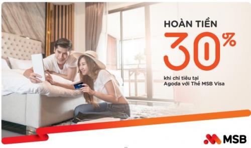Hoàn tiền 30% cho chủ thẻ MSB khi đặt khách sạn qua Agoda