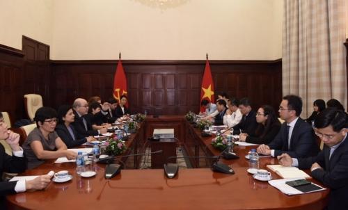 Thống đốc Lê Minh Hưng tiếp xã giao Đoàn Điều IV của Quỹ Tiền tệ Quốc tế