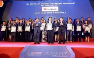 SeABank trong top 500 doanh nghiệp tăng trưởng nhanh nhất Việt Nam