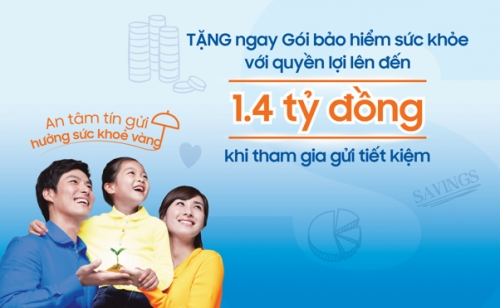Gửi tiết kiệm, nhận gói bảo hiểm tại Sacombank