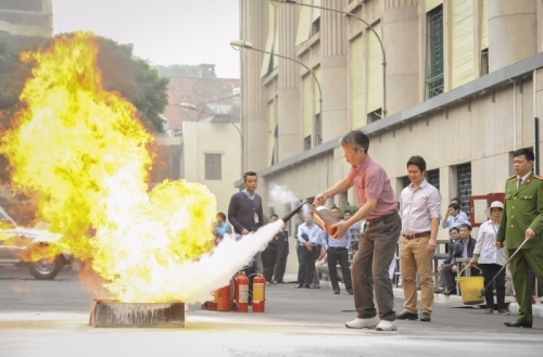 Ngân hàng Nhà nước tăng cường công tác phòng cháy, chữa cháy