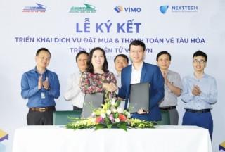 Ra mắt dịch vụ đặt và thanh toán vé tàu thông qua ví điện tử Vimo