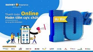 Bảo hiểm Bảo Việt hoàn tiền 10% vào thẻ khi thanh toán online