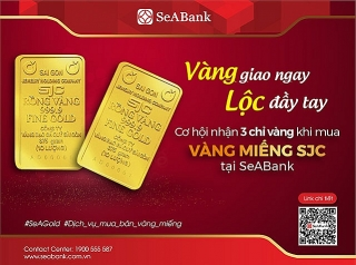 SeABank triển khai dịch vụ mua bán vàng miếng SJC tại 5 điểm giao dịch