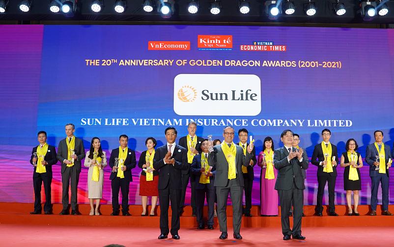 Sun Life Việt Nam vinh dự nhận giải thưởng Rồng Vàng năm 2021