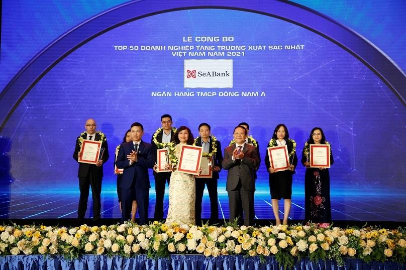 seabank duoc vinh danh top 50 doanh nghiep tang truong xuat sac nhat viet nam