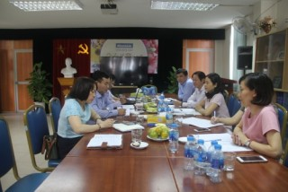 Ban thanh tra nhân dân Cơ quan NHNN Trung ương làm việc với Thời báo Ngân hàng