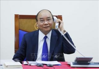 Thủ tướng Nguyễn Xuân Phúc điện đàm với Tổng thống Hoa Kỳ
