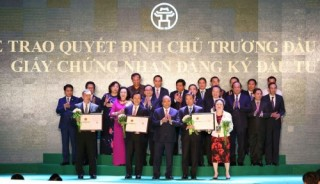 Hà Nội trao chứng nhận đầu tư cho 71 dự án với số vốn 397.335 tỷ đồng