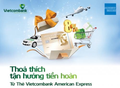 Thẻ tín dụng Amex được hoàn đến 8% tiền giao dịch