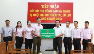 NHCSXH ủng hộ đồng bào ảnh hưởng do lũ quét tại Hà Giang, Lai Châu