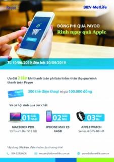 Đóng phí qua Payoo – Rinh ngay quà Apple