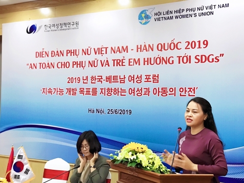 Diễn đàn Phụ nữ Việt - Hàn: An toàn cho phụ nữ và trẻ em hướng tới phát triển bền vững