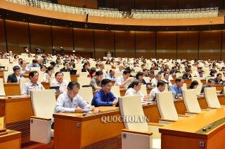 Quốc hội biểu quyết hai dự án Luật và thảo luận về Luật Cư trú (sửa đổi)