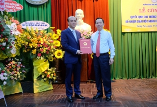 Phó Thống đốc Đào Minh Tú trao quyết định bổ nhiệm Giám đốc NHNN Chi nhánh Đồng Nai và làm việc với các TCTD