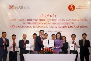 SeABank và Kho bạc Nhà nước phối hợp thu NSNN và thanh toán song phương điện tử