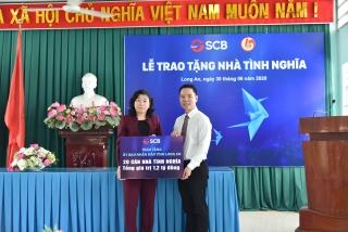 SCB tài trợ 1,2 tỷ đồng xây nhà cho gia đình chính sách ở Long An
