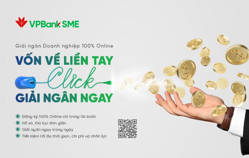 VPBank ra mắt dịch vụ đối với SME: Giải ngân 100% online