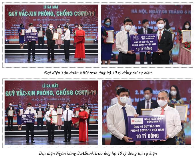 tap doan brg phoi hop cung seabank ung ho 20 ty dong cho quy vaccine phong covid 19