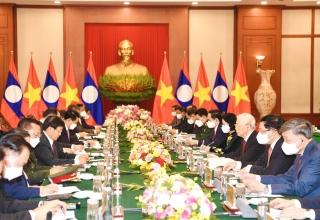 Mối quan hệ hữu nghị vĩ đại Việt Nam-Lào là tài sản chung vô giá của hai dân tộc