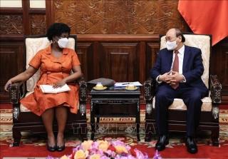 Chủ tịch nước Nguyễn Xuân Phúc tiếp Phó Chủ tịch Ngân hàng Thế giới
