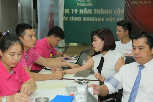 Gần 400 nhân viên Manulife Việt Nam tham gia hiến máu