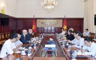 Phó Thống đốc Nguyễn Kim Anh làm việc với Đoàn Văn phòng đại diện Quỹ châu Á