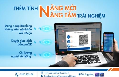 Ngân hàng điện tử Sacombank thêm nhiều tính năng mới