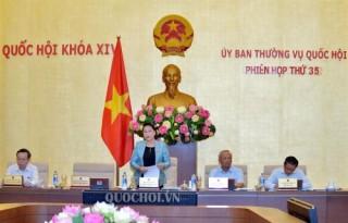 Khai mạc phiên họp thứ 35 Ủy ban Thường vụ Quốc hội