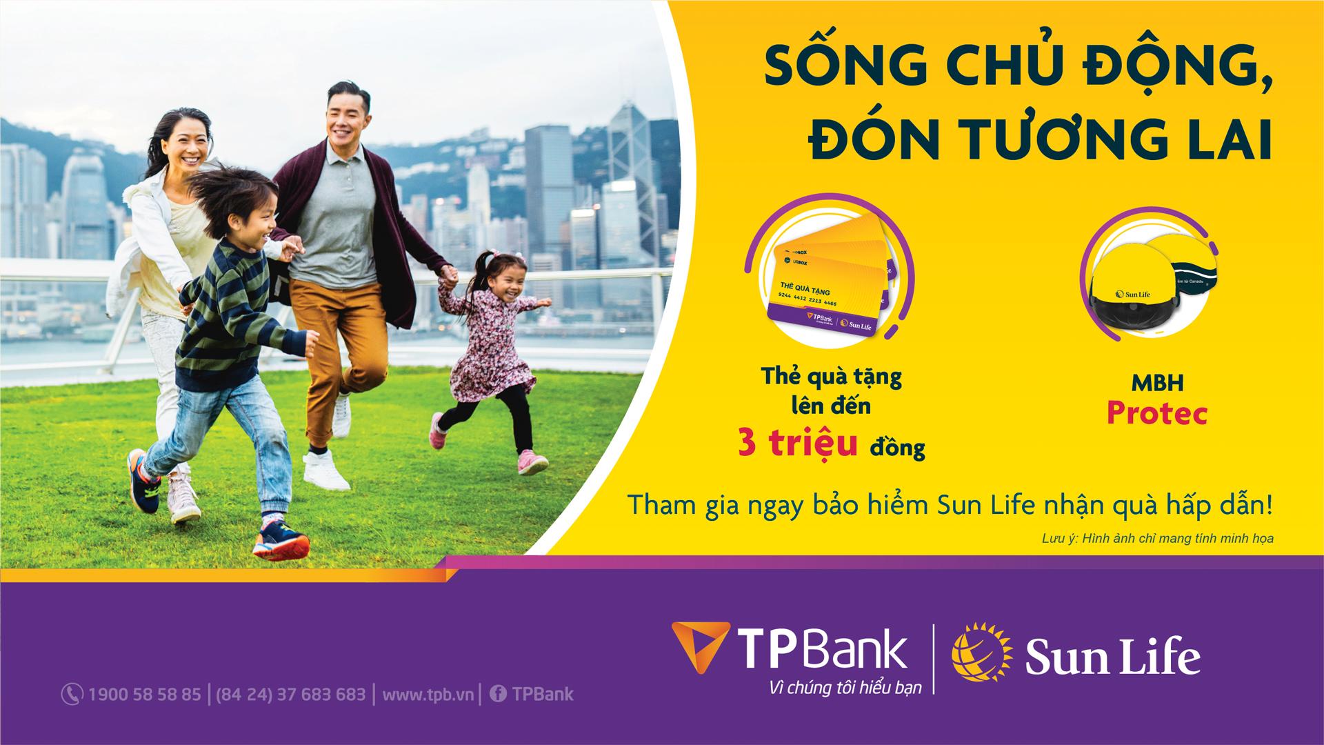 Nhận quà hấp dẫn khi mua bảo hiểm Sun Life qua TPBank