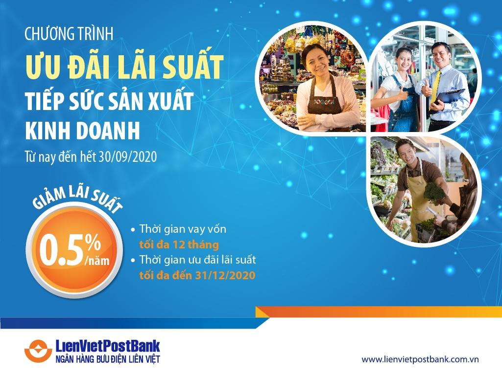lienvietpostbank mat san pham moi cho vay san xuat kinh doanh hang tieu dung
