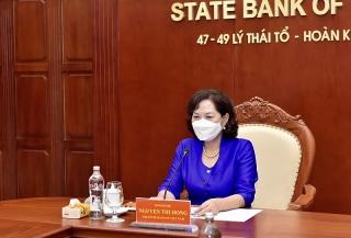 Thống đốc NHNN Nguyễn Thị Hồng làm việc với Bộ trưởng Tài chính Hoa Kỳ Janet Yellen